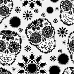 17695408-sugar-skull-seamless-pattern