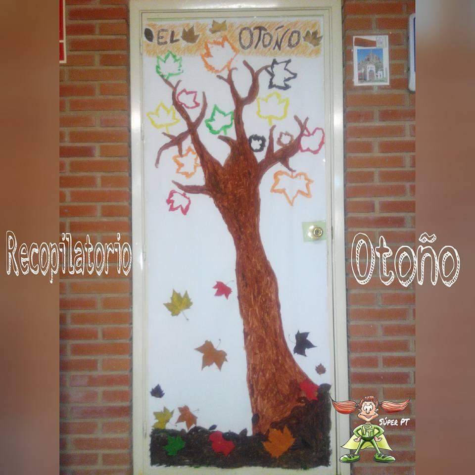 Octubre oto o el rinc n de aprender - Decoracion puerta otono ...