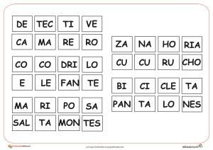 4 silabas completar 2