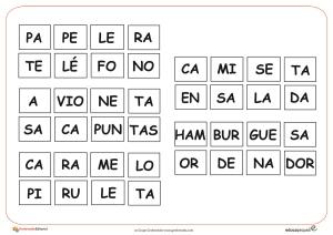 4 silabas completar