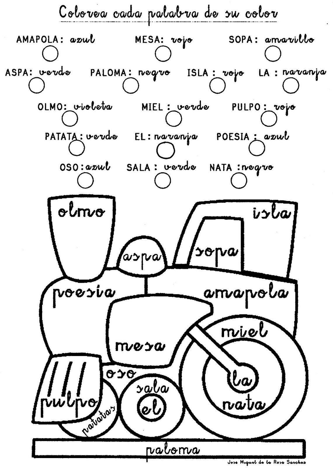 Repaso de letras para colorear | El Rincón De Aprender