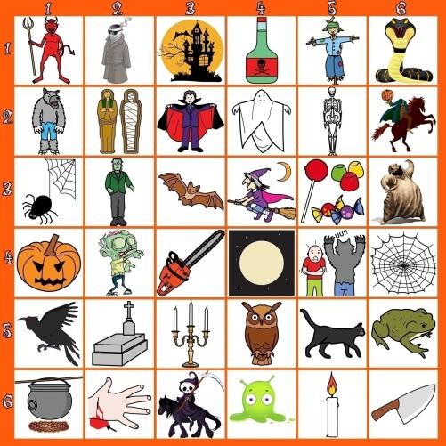 Juego Halloween crear historias