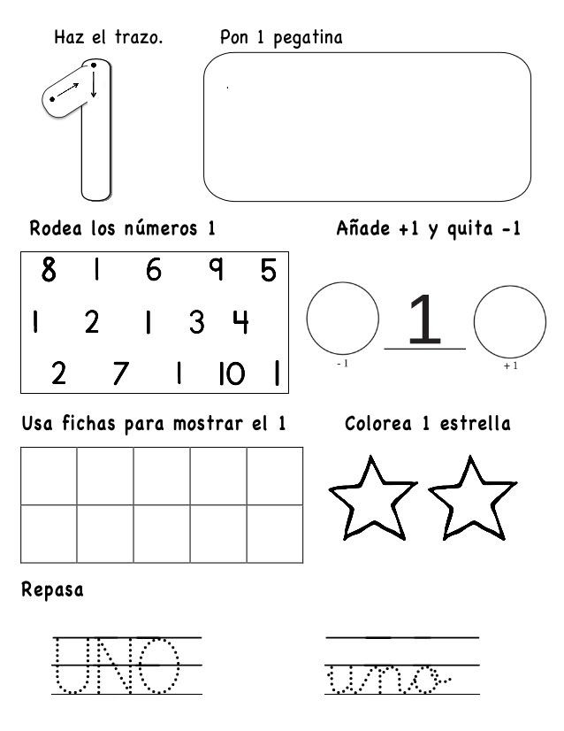 Aprendiendo Los Números Hasta El 10 El Rincón De Aprender