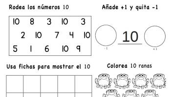 Librito Para Practicar Los Números Del 1 Al 10 El Rincón De Aprender